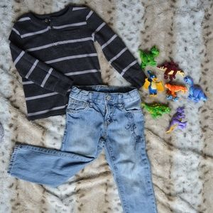 Boys 3T Gap Jeans and Tee Outfit Bundle